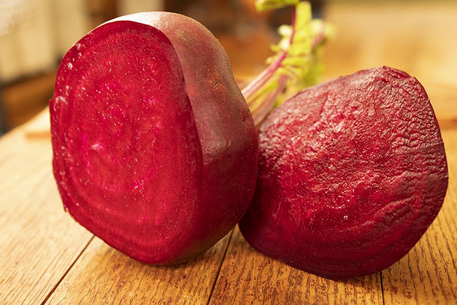 delicious beet cut in half
